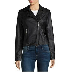 JouJou vegan leather moto jacket NWT